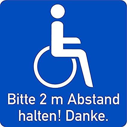 Rollstuhl Aufkleber Auto Zubehör Behinderung 2 m Abstand Aufkleber am Auto   nur ein Relikt aus alten Zeiten?