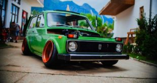 Toyota Motor Stance Tuning Lada Niva 1600 4x4 Camber Header 310x165 Unicorn Widebody Ford Mustang Cabrio mit 700 PS!