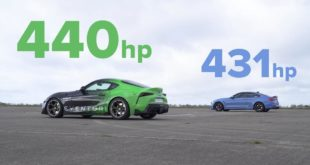 Toyota Supra vs BMW M4  DRAG RACE 1 21 screenshot 310x165 Video: 440 PS Toyota Supra vs. BMW M4 F82 Coupe!