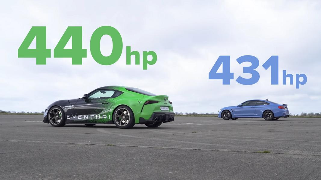 Toyota Supra vs BMW M4  DRAG RACE 1 21 screenshot Video: 440 PS Toyota Supra vs. BMW M4 F82 Coupe!