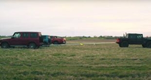 Tug Of War Hummer H1 vs. G63 Jimny L200 310x165 Video: Tug Of War   Hummer H1 vs. G63, Jimny & L200