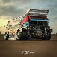 VW T1 Bulli W12 Tuning Martini Widebody Kit 10 190x190 650 PS VW T1 Bulli mit W12 Triebwerk und Widebody Kit!
