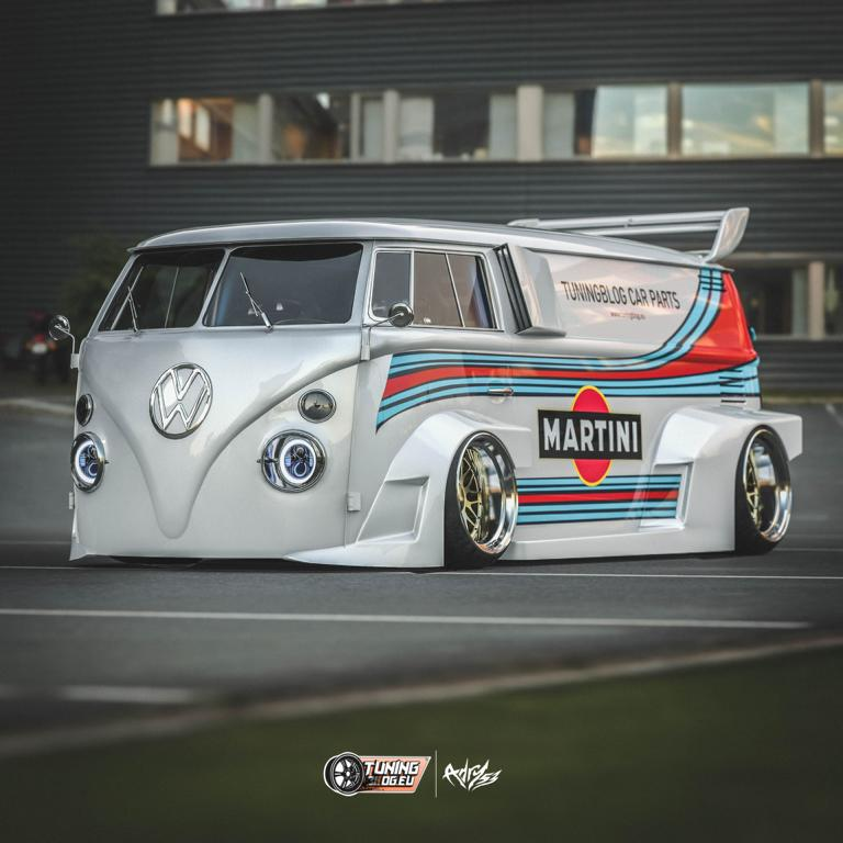 VW T1 Bulli W12 Tuning Martini Widebody Kit 6 650 PS VW T1 Bulli mit W12 Triebwerk und Widebody Kit!