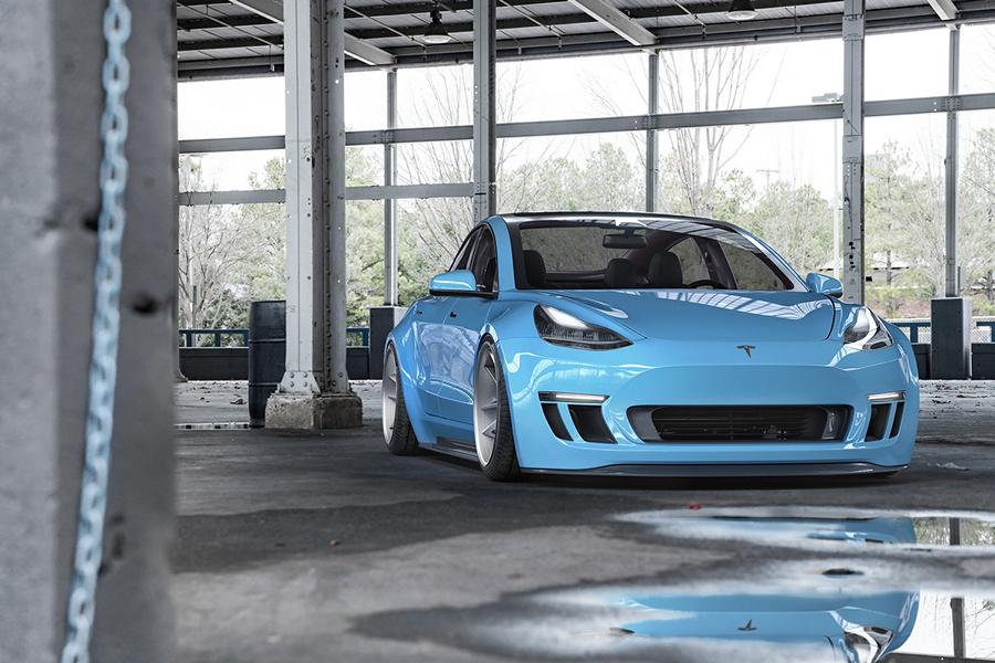 Widebody Tesla Model 3 Rotiform SPF Tuning 1 ErWEIDert   Widebody Tesla Model 3 auf Rotiform Alus