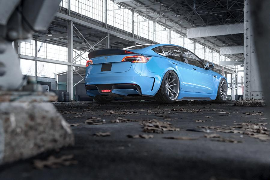 Widebody Tesla Model 3 Rotiform SPF Tuning 2 ErWEIDert   Widebody Tesla Model 3 auf Rotiform Alus