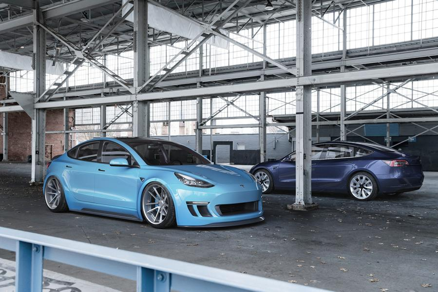 Widebody Tesla Model 3 Rotiform SPF Tuning 5 ErWEIDert   Widebody Tesla Model 3 auf Rotiform Alus