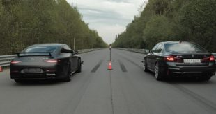 950 PS Mercedes AMG GT63 vs. 850 PS BMW M5 Drag race 1 310x165 Video: Ford Mustang Shelby GT500 vs. Tuning Corvette