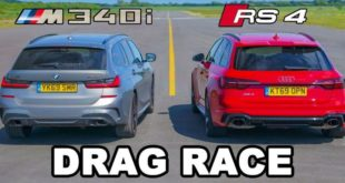 Audi RS4 Avant B9 vs. BMW M340i Touring G20 310x165 Video: Drag race   Dodge Demon vs. Chevrolet Corvette C8