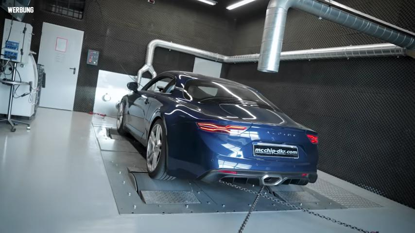 Chiptuning am Alpine A110 auf 285 PS 398 NM Video: Chiptuning am Alpine A110 auf 285 PS & 398 NM