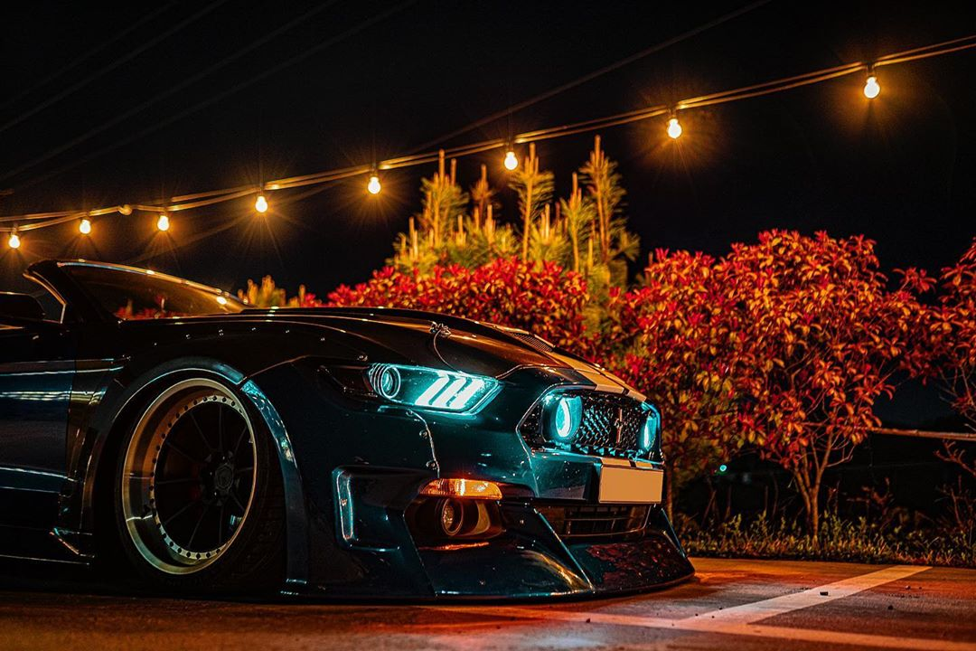 Clinched Unicorn Widebody Ford Mustang Cabrio Kompressor Airride 19 Unicorn Widebody Ford Mustang Cabrio mit 700 PS!