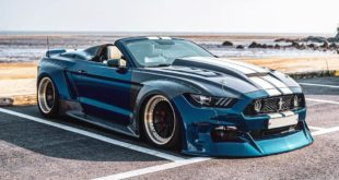 Clinched Unicorn Widebody Ford Mustang Cabrio Kompressor Header 310x165 Unicorn Widebody Ford Mustang Cabrio mit 700 PS!