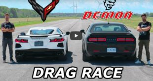Dodge Demon vs. Chevrolet Corvette C8 310x165 Video: BMW M8 Competition vs. Shelby GT500 Mustang!