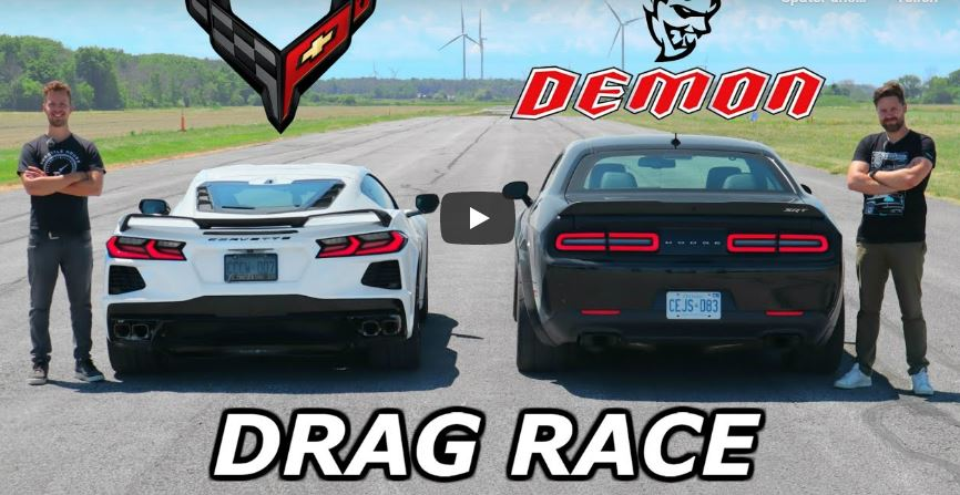 Dodge Demon vs. Chevrolet Corvette C8 Video: Drag race   Dodge Demon vs. Chevrolet Corvette C8