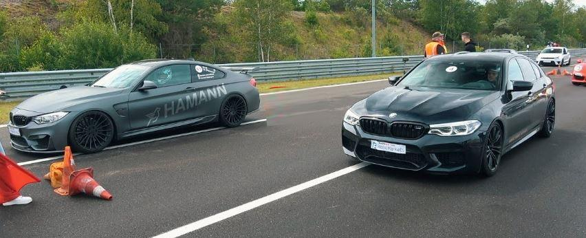 HPT BMW M5 F90 vs. Hamann M4 and 9ff video: 867 PS HPT BMW M5 F90 vs. Hamann M4 and 9ff