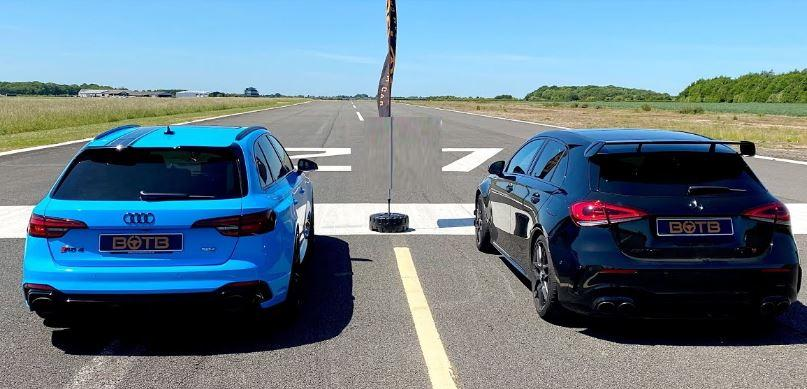 Mercedes AMG A45 S vs. Audi RS4 Avant Video: 421 PS Mercedes AMG A45 S vs. 450 PS Audi RS4 Avant