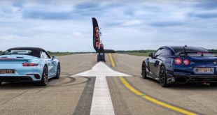 Porsche 911 991.2 Turbo S vs. 690 PS Nissan GT R 310x165 Video: Drag race   Dodge Demon vs. Chevrolet Corvette C8
