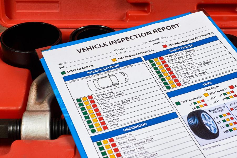 """What is a so-called """"test report"""" for the vehicle?"""