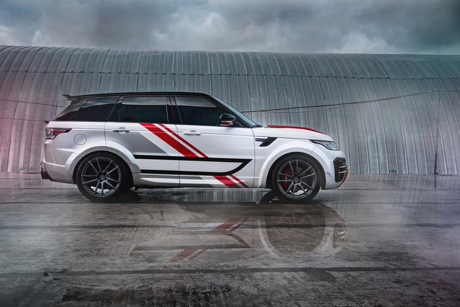 Range Rover Sport Widebody Kit SCL Global Concept Tuning 5 Range Rover Sport mit Restyling Kit von SCL Global Concept