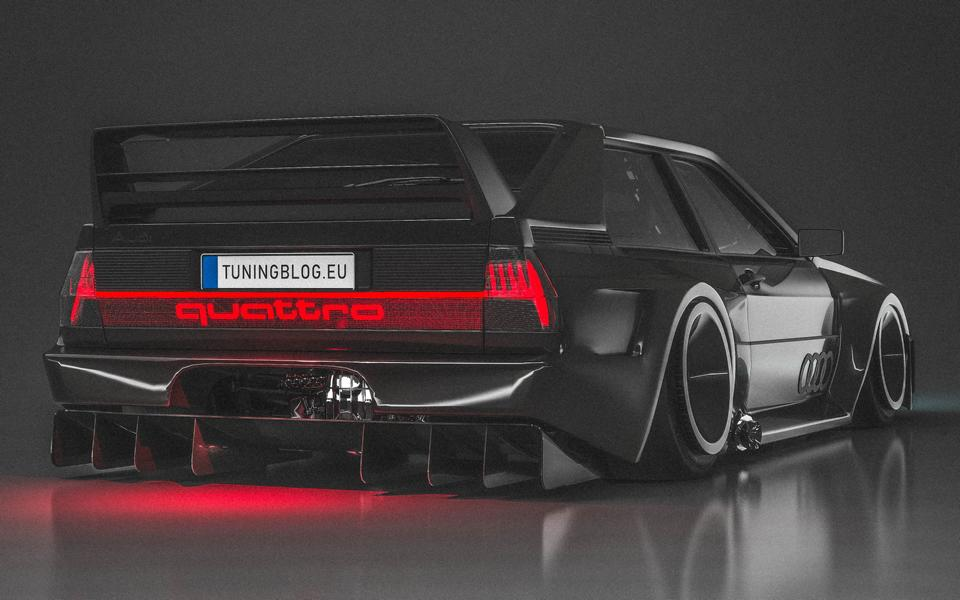 Audi Ur quattro Widebody 3 2020 Widebody Audi Ur quattro with side pipes & turbofans