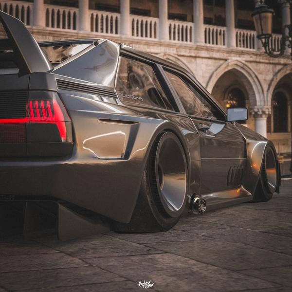 Audi Ur quattro Widebody 6 2020 Widebody Audi Ur quattro with side pipes & turbofans