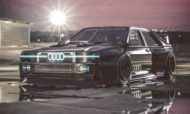 Audi Ur quattro Widebody 8 190x114 2020 Widebody Audi Ur quattro with side pipes & turbofans