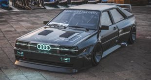 Audi Ur quattro Widebody Header 310x165 2020 Widebody Audi Ur quattro mit Sidepipes & Turbofans