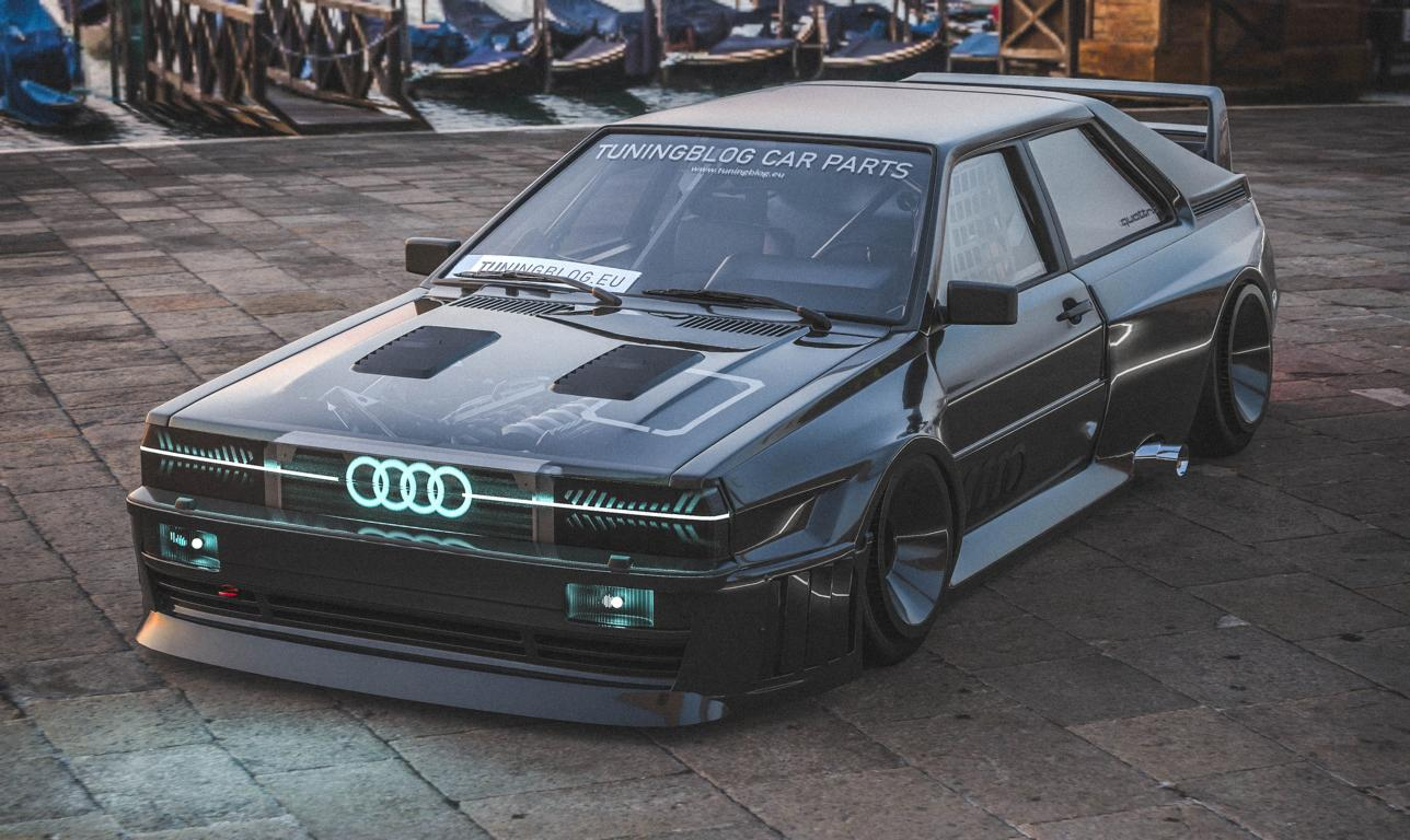Audi Ur quattro Widebody Header 2020 Widebody Audi Ur quattro mit Sidepipes & Turbofans