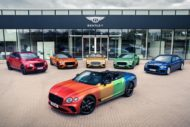 Bentley Continental GT Rainbow Car Wrap 2020 2 190x127 Bunter Hund   Bentley Continental GT als Rainbow Car!