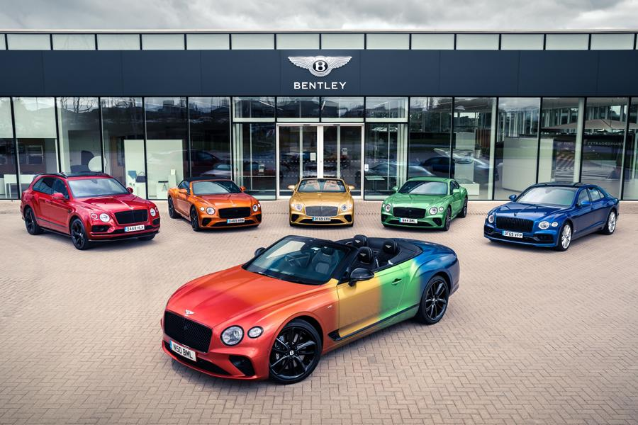 Bentley Continental GT Rainbow Car Wrap 2020 2 Bunter Hund   Bentley Continental GT als Rainbow Car!