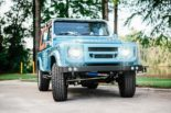Defender 90 Replika OCC V8 Tuning 8 155x103 OCC Land Rover Defender 90 Replika mit V8 in Himmelblau!