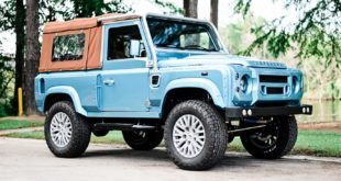 Defender 90 Replika OCC V8 Tuning Header 310x165 OCC Land Rover Defender 90 Replika mit V8 in Himmelblau!