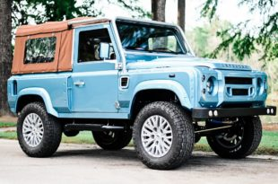 Defender 90 Replika OCC V8 Tuning Header 310x205 OCC Land Rover Defender 90 Replika mit V8 in Himmelblau!