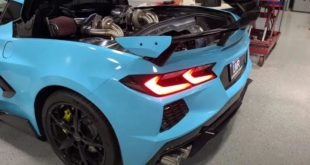 LMR BiTurbo Chevrolet Corvette C8 Tuning Swap 310x165 Video: Mustang Coyote V8 Power im Porsche Cayman!