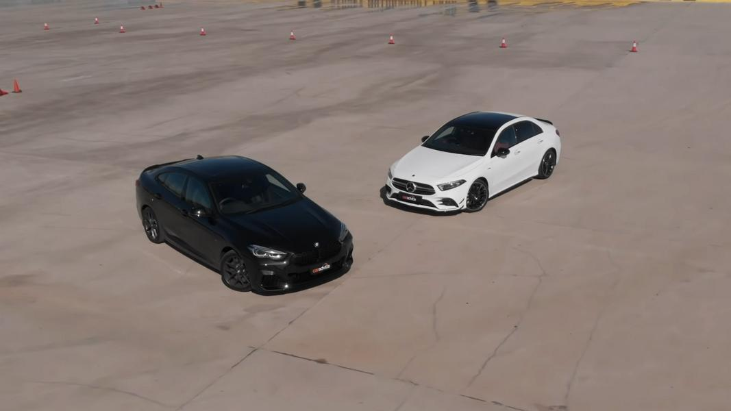 Mercedes AMG A35 Limo vs. BMW M235i Gran Coupe Video: Mercedes AMG A35 Limo vs. BMW M235i Gran Coupe