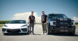 Shelby F 150 Super Snake vs. Chevrolet Corvette C8 310x165 Video: Shelby F 150 Super Snake vs. Chevrolet Corvette C8!