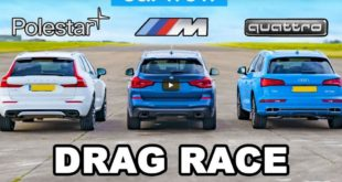 Volvo XC60 Polestar vs. Audi Q5 E vs. BMW X3 M40i 310x165 Video: Street race   +1.100 HP Mustang vs. +900 HP Hellcat