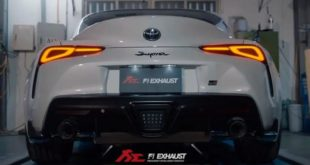2020 Toyota Supra with Fi Exhaust sport exhaust 310x165 Video: The loudest Lamborghini Aventador SV in the world?