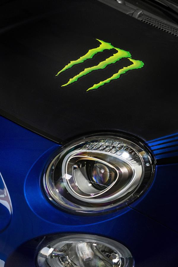 Abarth 595 Monster Energy Yamaha 17 Abarth 595 Scorpioneoro und 595 Monster Energy Yamaha