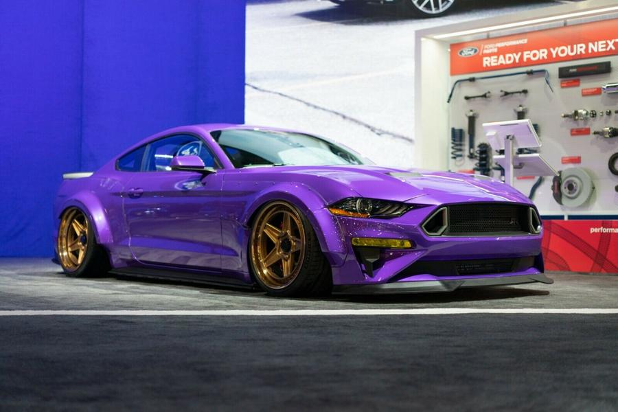 Ford Mustang EcoBoost SEMA Car 4 Violetter Ford Mustang EcoBoost   Vierzylinder SEMA Car!