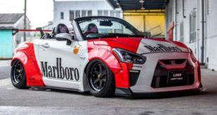 Liberty Marlboro widebody Daihatsu Copen Roadster Tuning 7 310x165 Mitsubishi Lancer Evo X with widebody kit from Liberty Walk