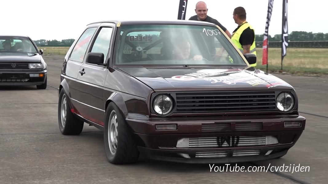 VW Golf 2 Turbosektor Ost Speedmakers 9 Video: VW Golf 2 mit über 1.300 PS von Turbosektor Ost!