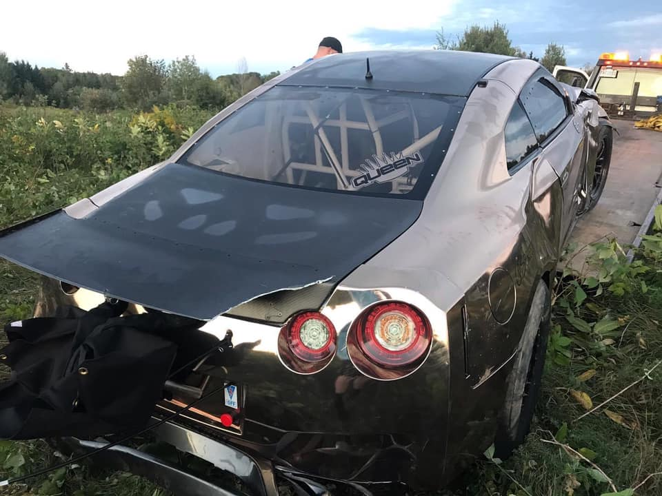 3.300 HP AMS Nissan GT R Alpha Queen Unfall Track Tuning 5 3.300 HP AMS Nissan GT R Alpha Queen mit Unfall!