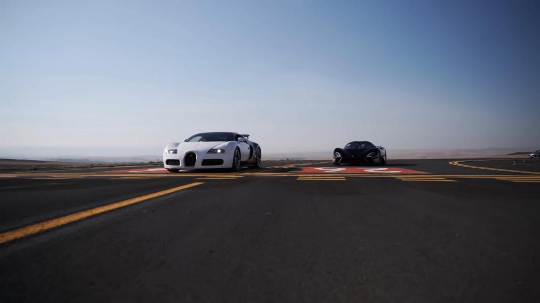 Bugatti Veryon in the drag race against the SSC Tuatara Video: Bugatti Veryon in the drag race against the SSC Tuatara!