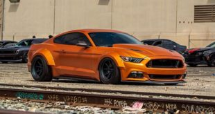 Ford Mustang Widebody Orange Coyote 1 310x165 Mächtiges Teil   Ford Mustang Widebody Orange Coyote