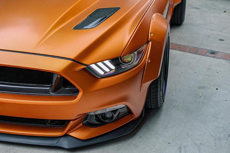 Ford Mustang Widebody Orange Coyote 6 Mächtiges Teil   Ford Mustang Widebody Orange Coyote