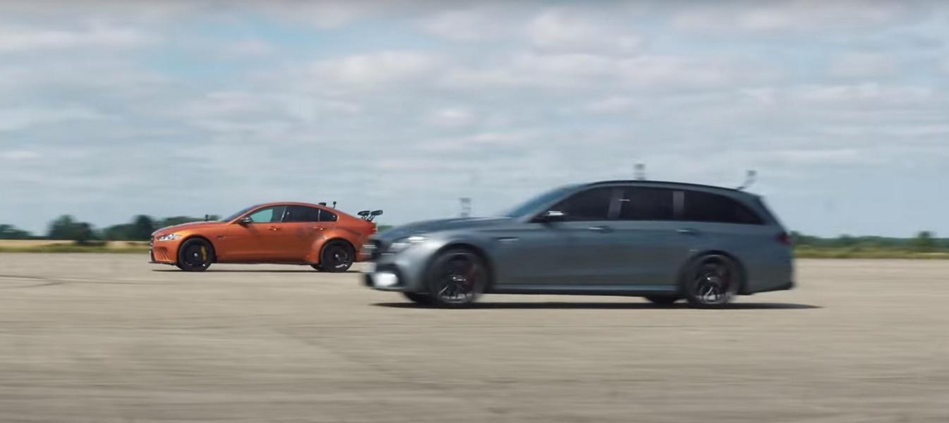 Mercedes AMG E63 S W213 vs. Jaguar Project 8 2 Video: Mercedes AMG E63 S W213 vs. Jaguar Project 8!