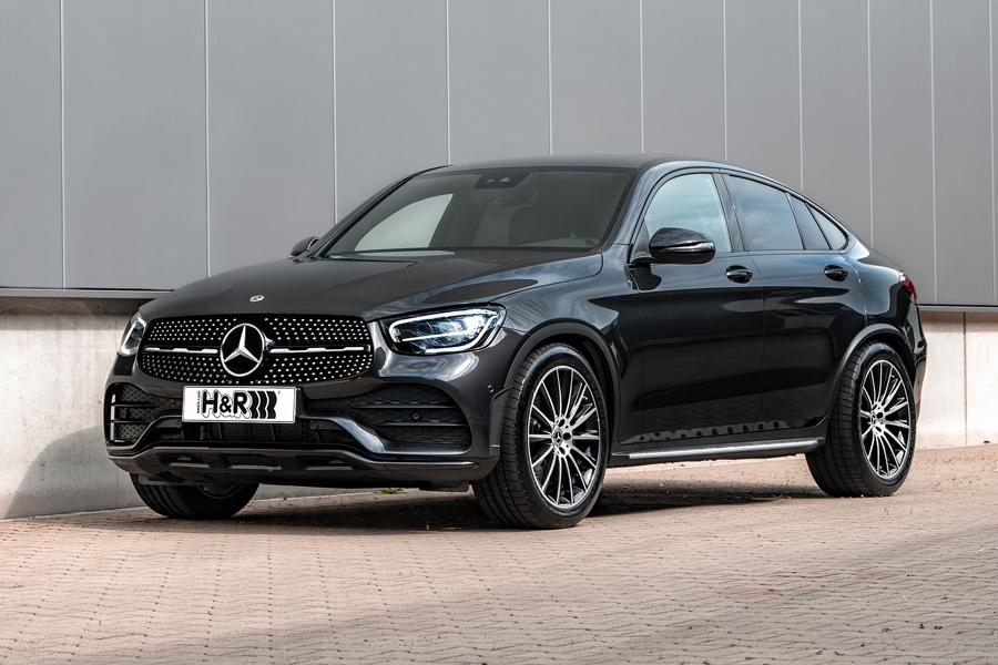 Mercedes Benz GLC Facelift Sport Springs Front Two models, one upgrade: H&R sport springs for Mercedes Benz GLC Coupé and SUV