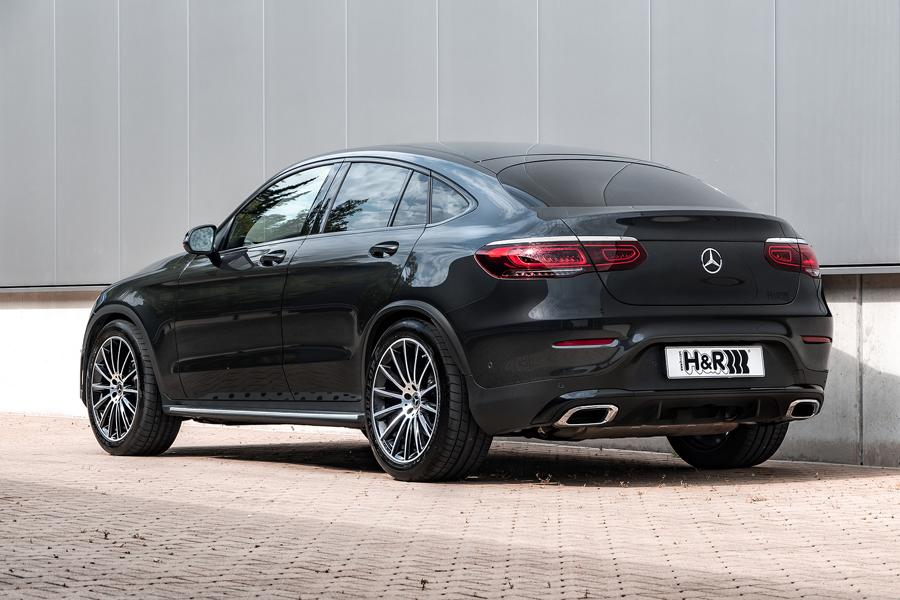 Mercedes Benz GLC facelift sport springs rear Two models, one upgrade: H&R sport springs for Mercedes Benz GLC Coupé and SUV