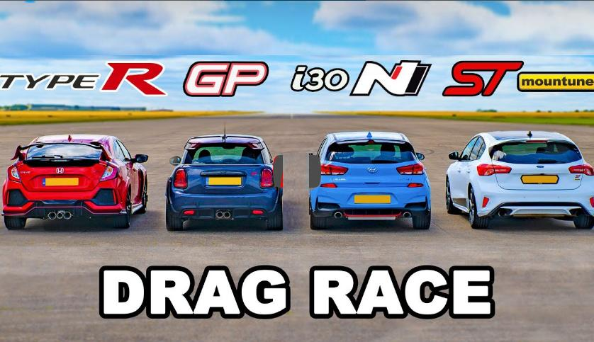 Mini JCW GP vs. Honda Type R Hyundai i30 N Ford Focus ST Video: Mini JCW GP vs. Honda Type R, Hyundai i30 N & Ford Focus ST