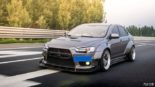 Mitsubishi Lancer Evo X widebody kit Liberty Walk Tuning 2 155x87 Mitsubishi Lancer Evo X with widebody kit from Liberty Walk